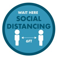 FLOOR SIGN Social Distancing-Circle